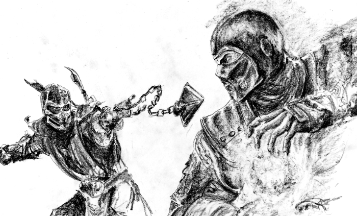 Scorpion vs Sub-Zero by MisPtys on DeviantArt