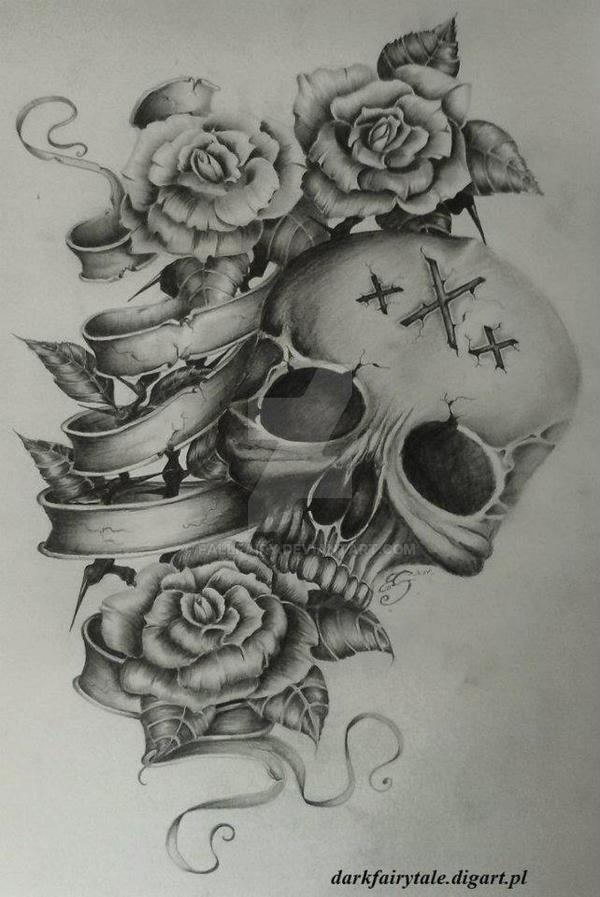 skull by FallFairy