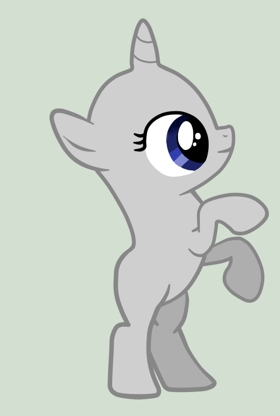 My little pony filly base unicorn