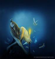White Dove by ebtihalien