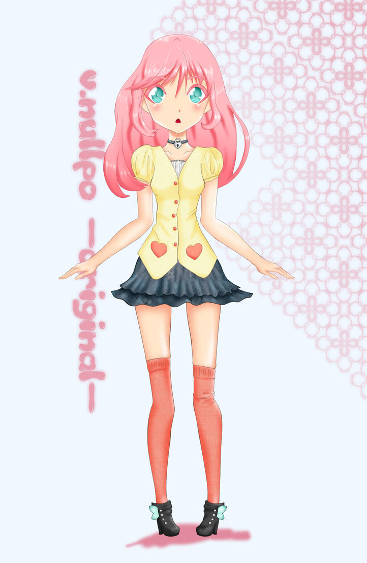 Random Cute Girl - Character Design - by superstarhollyann