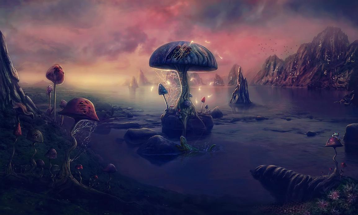 Mushrooms Land - IN 14th exp by Dafne-1337art