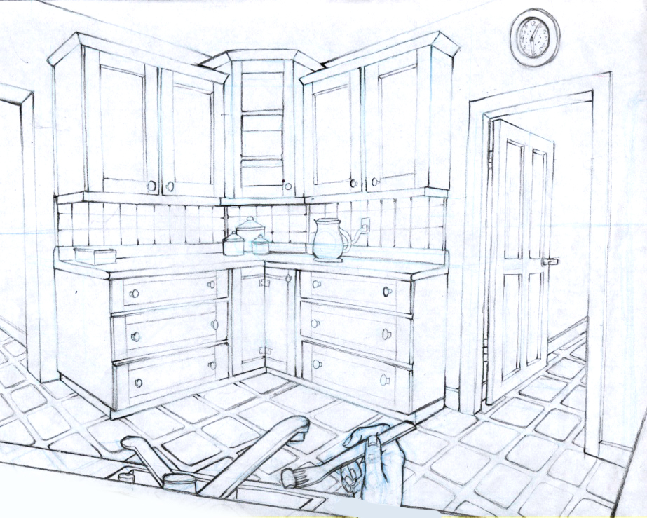 Line Drawing Room : Room line drawing by jermmgirl on deviantart