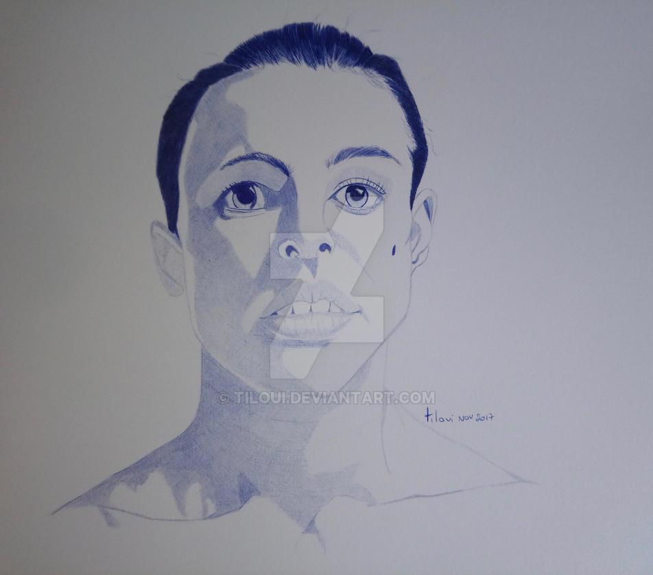 Nathalie Portman Ballpoint pen by Tiloui