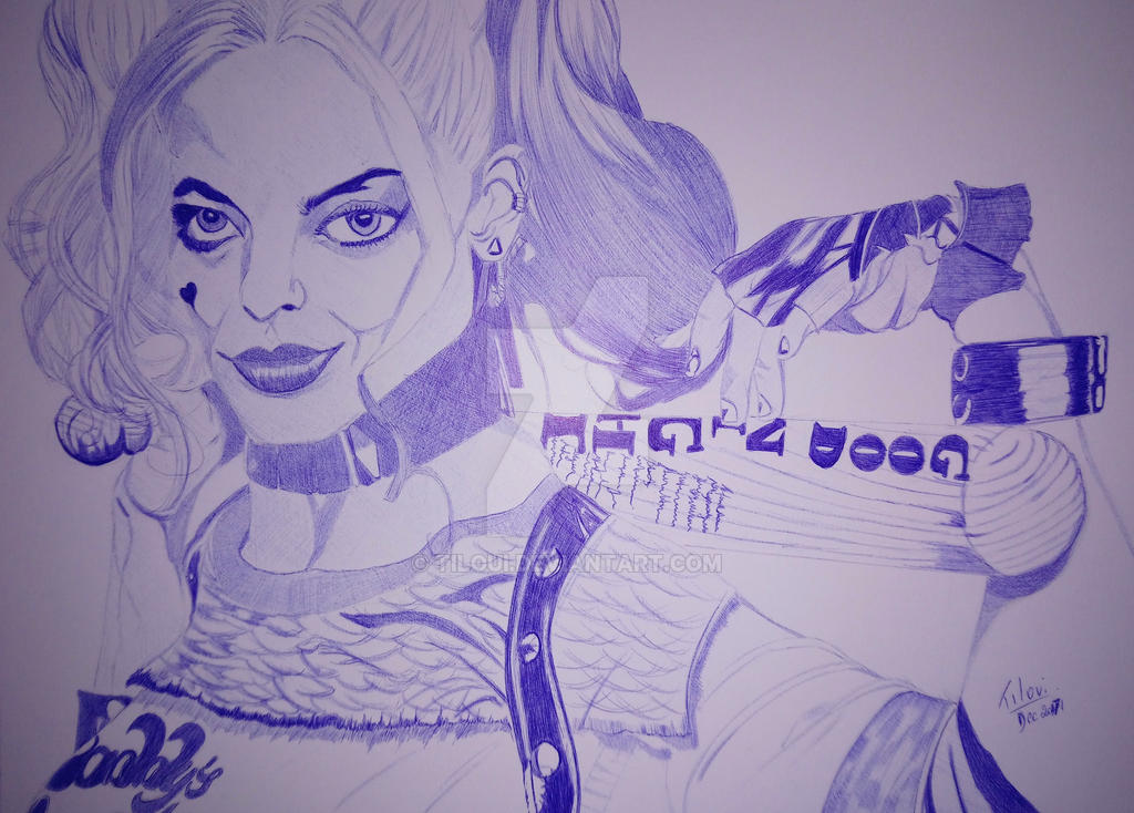 Harley Quinn ballpoint pen by Tiloui