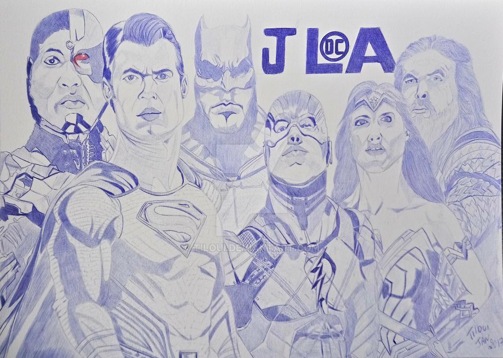 Justice League ballpoint pen by Tiloui