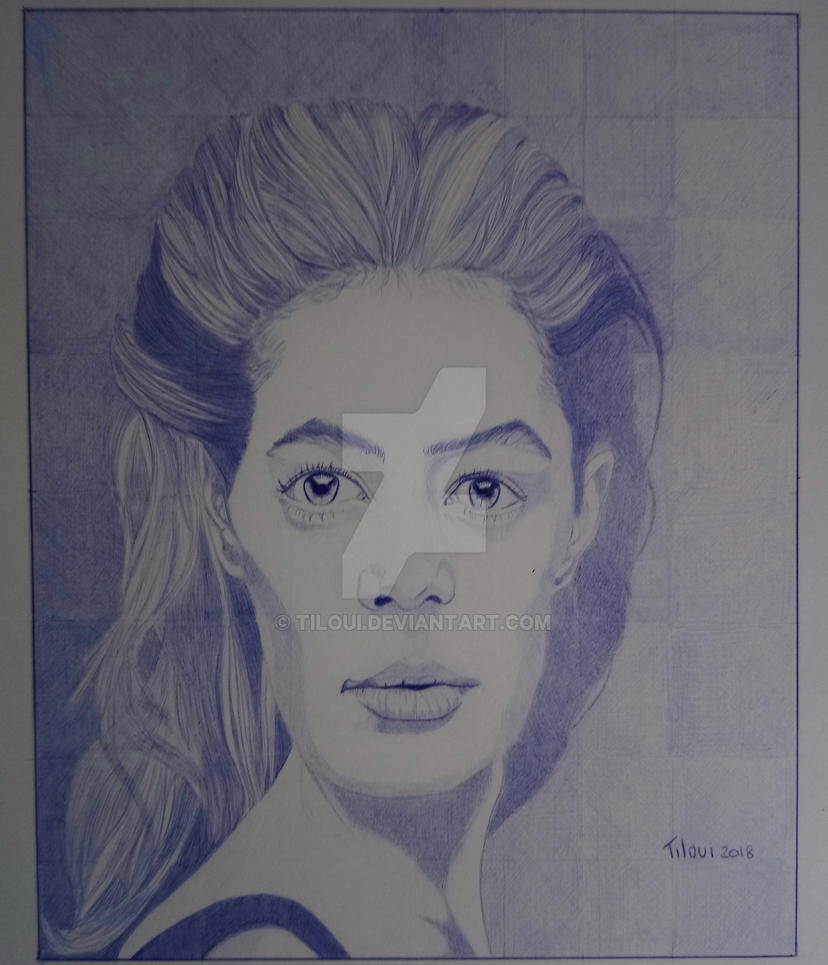 Another Ballpoint pen portrait by Tiloui