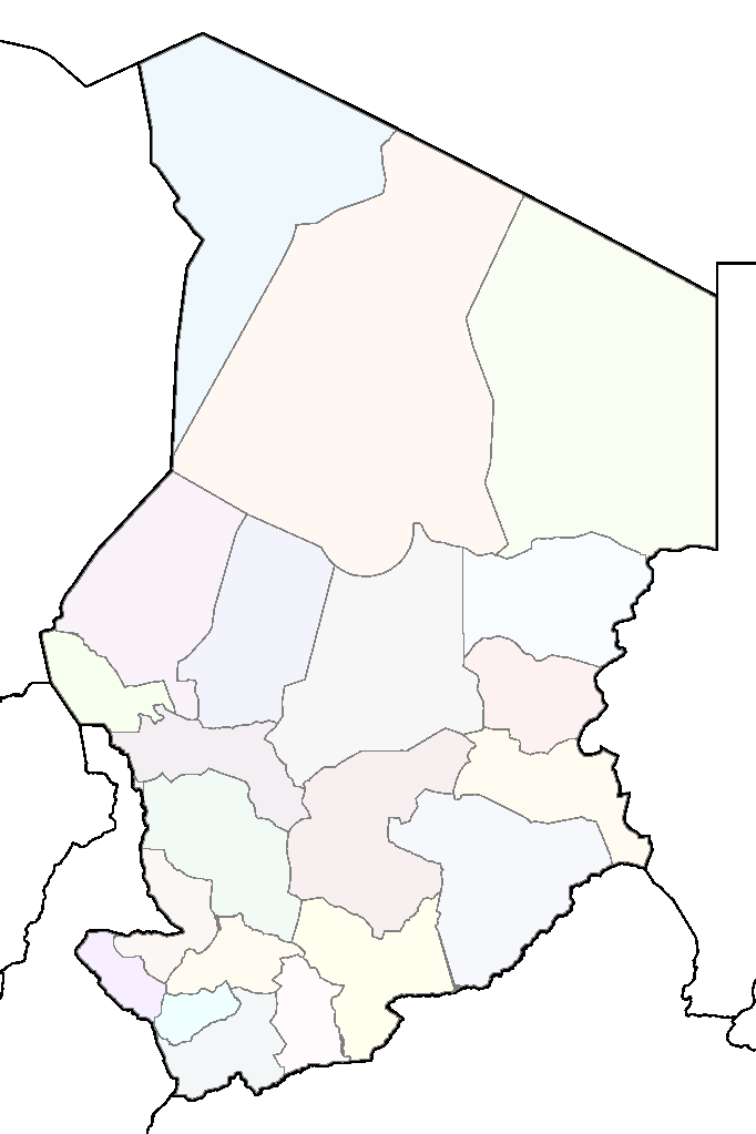 Chad Regions Map