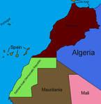 Morocco Basic Map Labeled