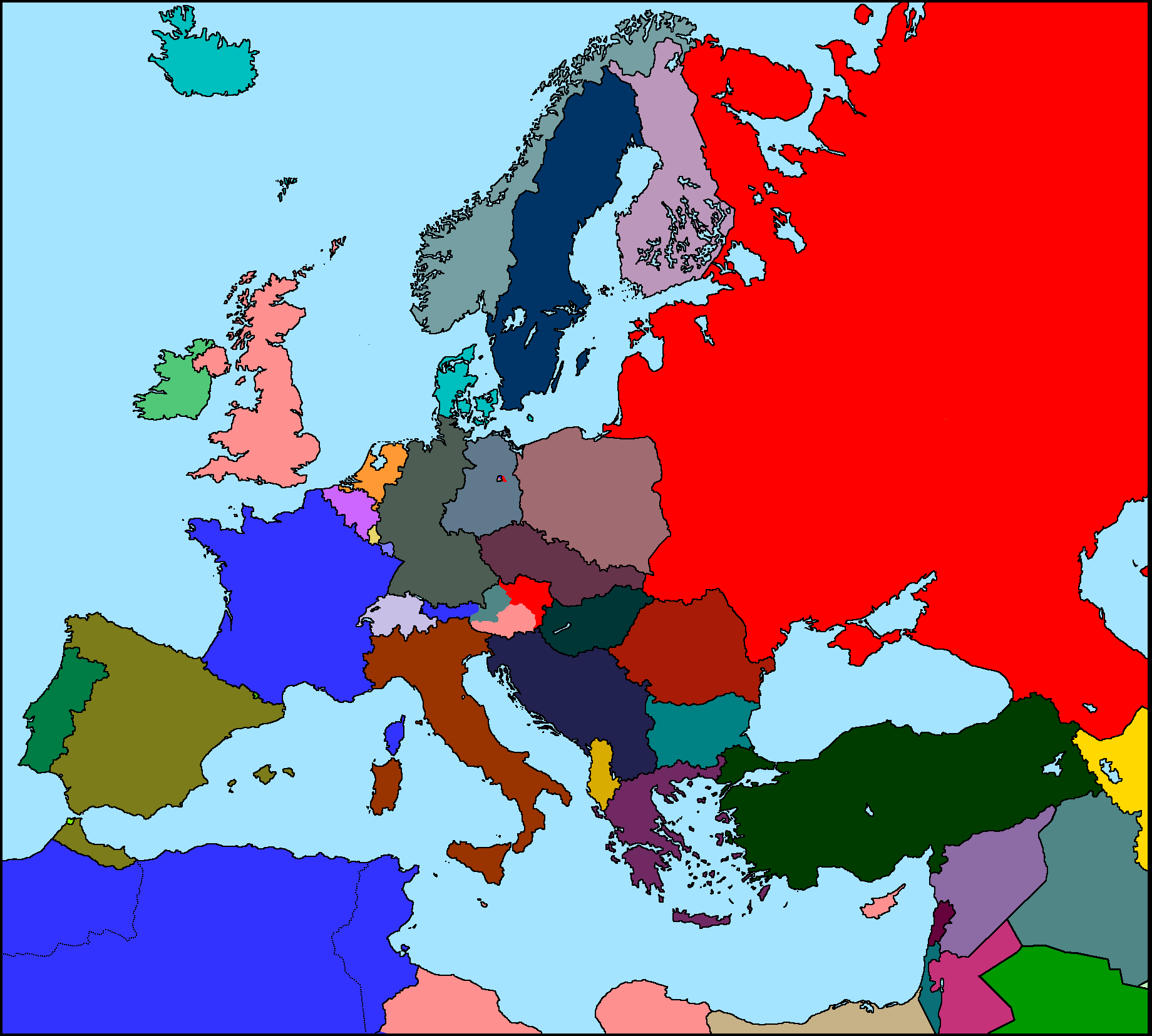 Map Of Europe 1950 Map of Europe 1950 v1 by xGeograd on DeviantArt