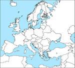 Blank Map of Europe 2015