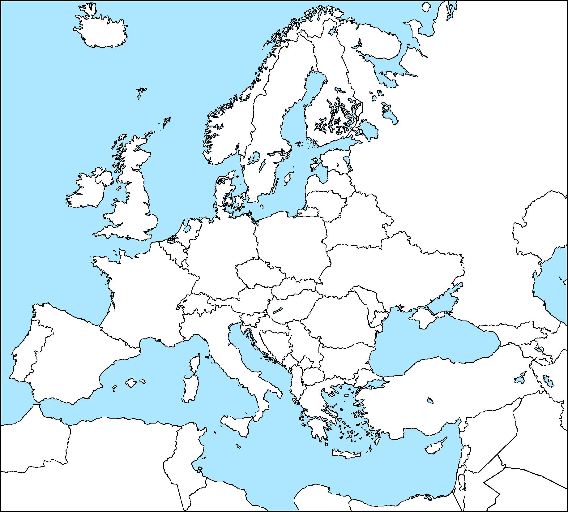 This is an image of Sweet Europe Printable Map