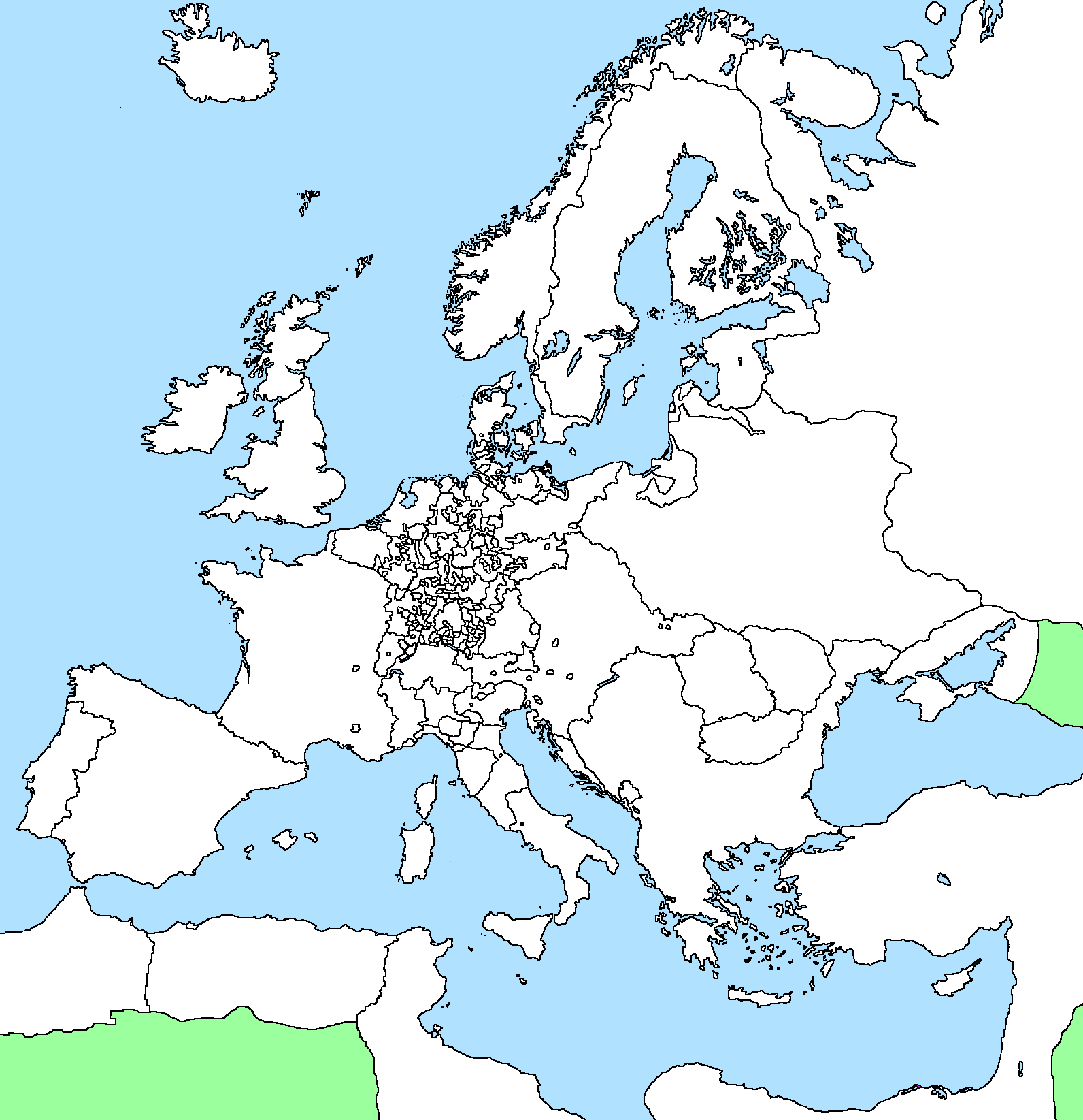 Blank Map of Europe 1648 by xGeograd on DeviantArt