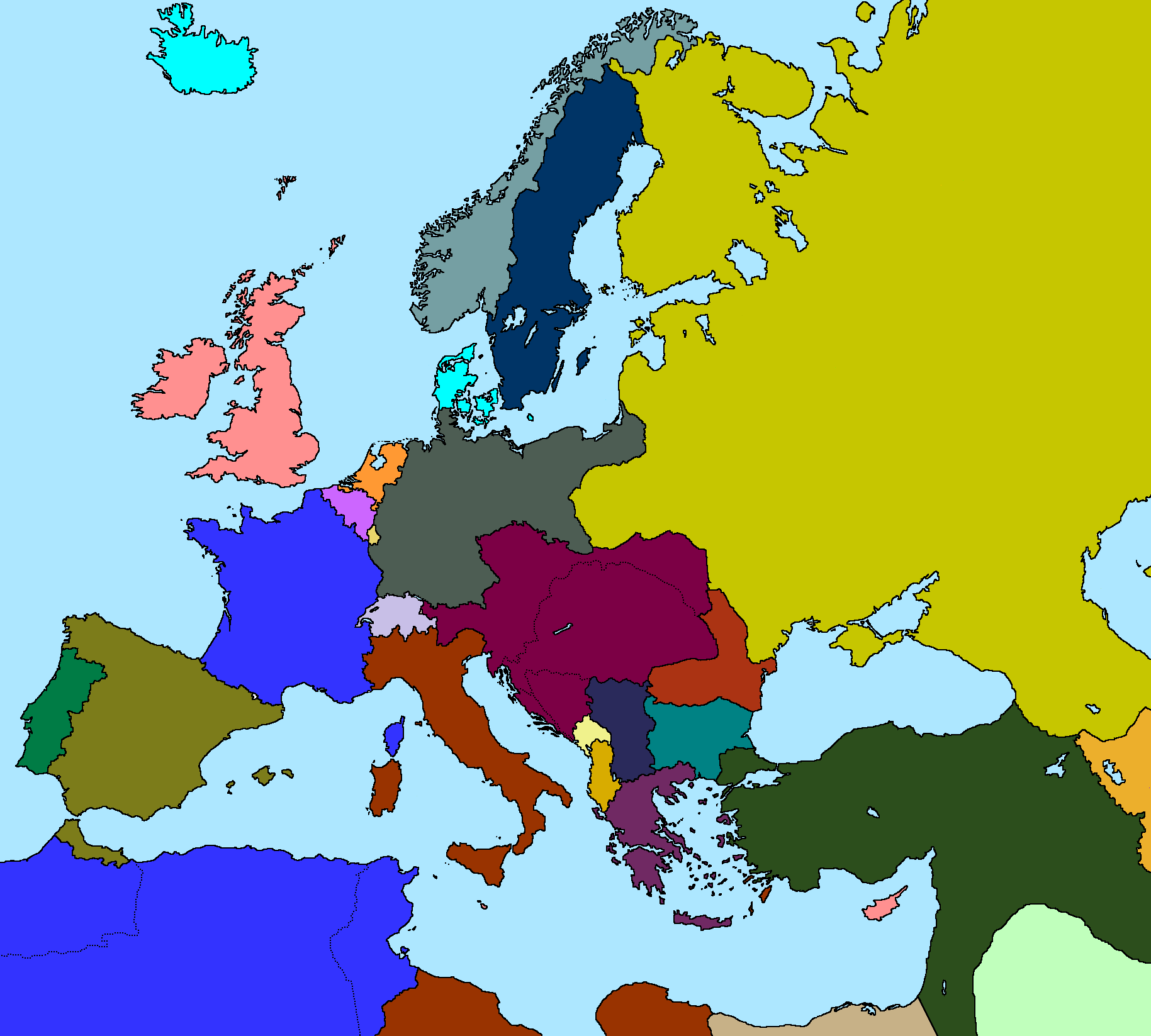 Map Of Europe 1914 By Xgeograd On Deviantart