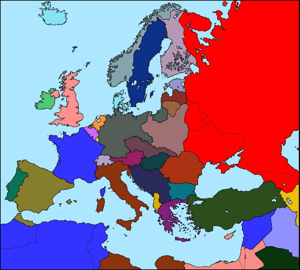 Map Of Europe 1935 | CVFLVBP