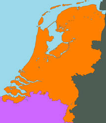 Map of the Netherlands 2016