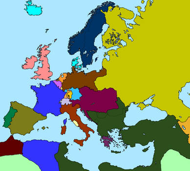 Map of Europe in 1869