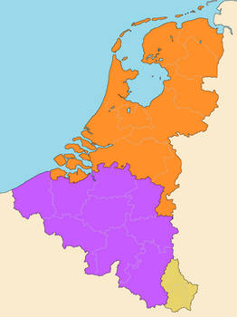 Benelux With Subdivisions