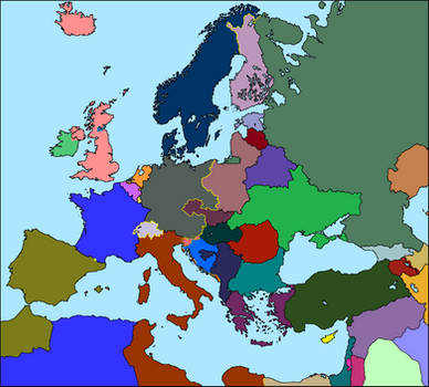 Random Map of Europe Divided