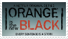Orange is the New Black stamp by EhX-KoR