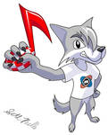 Zack the United Trackers Wolf