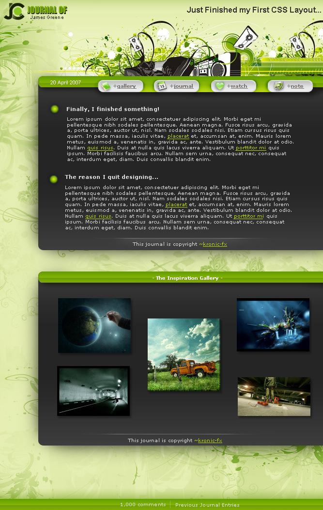 Sleek Green CSS by KRoNiC-fx