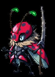 Alien Ladybug warrior commission
