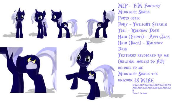 MMD MLP FiM- Midnight Shade