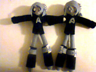 Axel and Azel plushie by MonoShuga