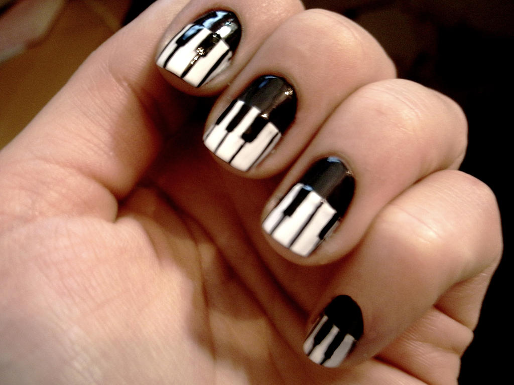 Piano Nails By Cosmosbrownie On Deviantart