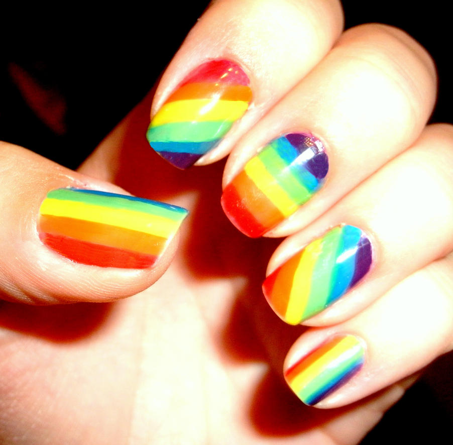 Pride Nail Designs: Nails By CosmosBrownie On DeviantArt