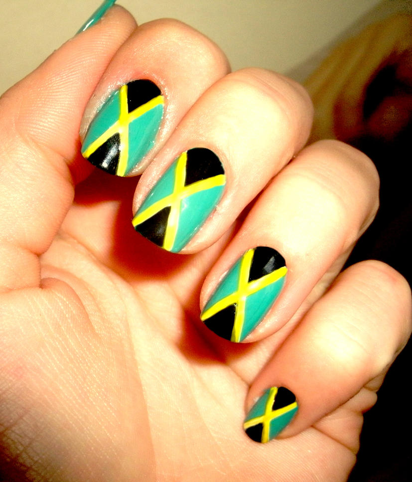 Jamaica nails by CosmosBrownie on DeviantArt
