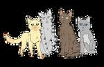 Warrior Cats Leaders by eftel-inge