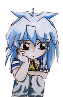 Chibi yugioh: Yami Bakura by animagetali