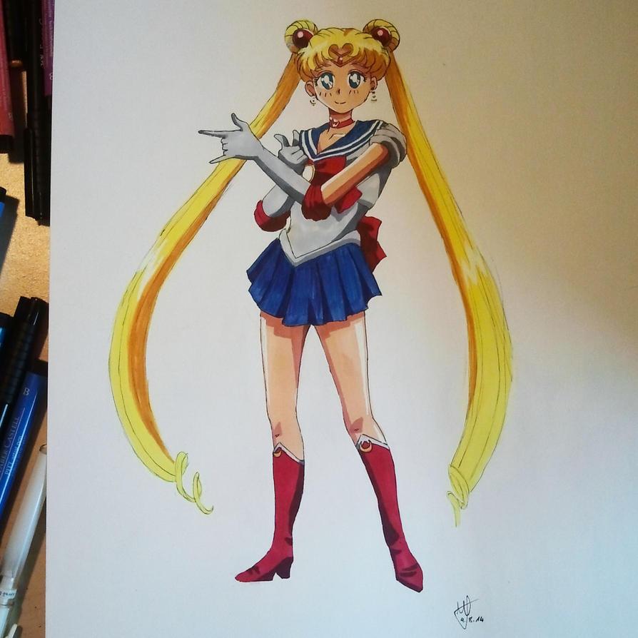 Sailor Moon Fanart by Meellowstar