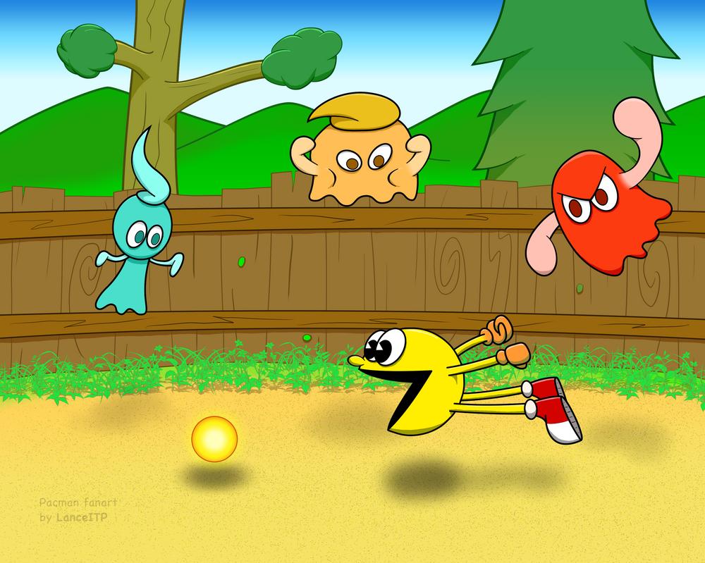 Pacman dives for a Super Pellet by LanceITP