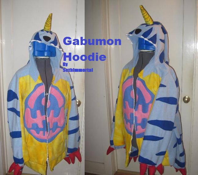 Gabumon hoodie by SethImmortal
