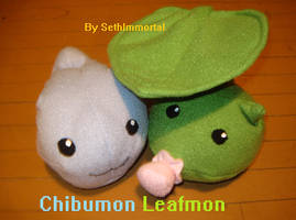 Chibumon and Leafmon by SethImmortal