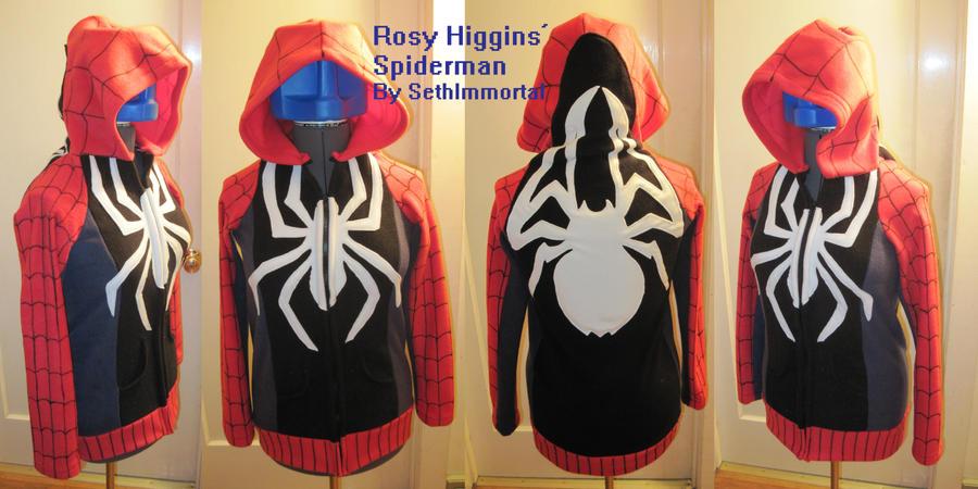 Rosy Higgins' Spiderman Hoodie by SethImmortal