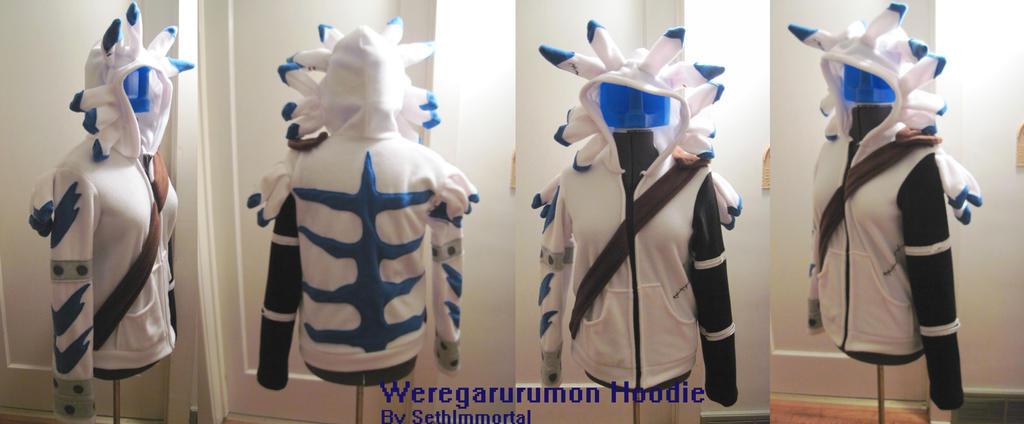 Weregarurumon Hoodie by SethImmortal