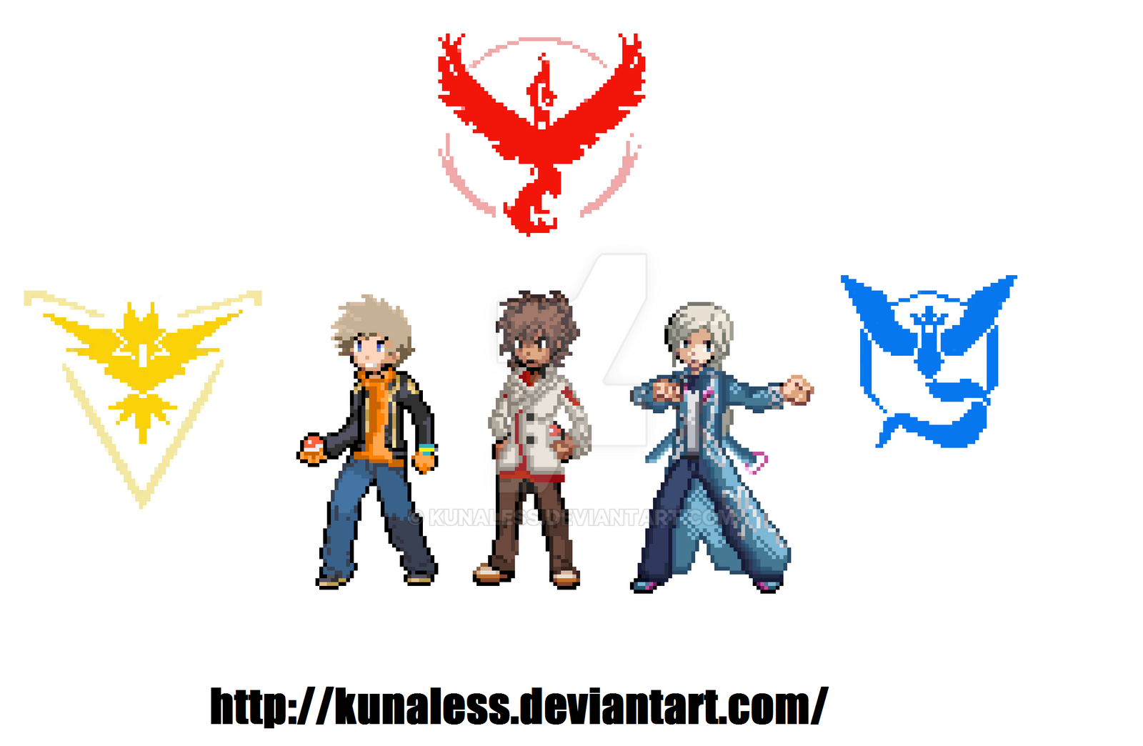 Pokemon Go Leaders Gba Style Pixel Art By Kunaless On Deviantart