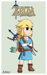 Toon Link - Zelda breath of the wild by Kunaless