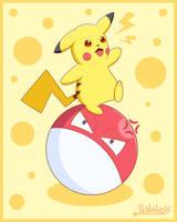 Pikachu and Voltorb - Pokemon by Kunaless