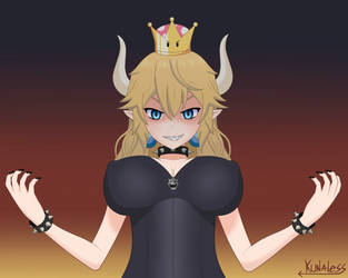 Princess Bowsette - New super Mario bros deluxe by Kunaless