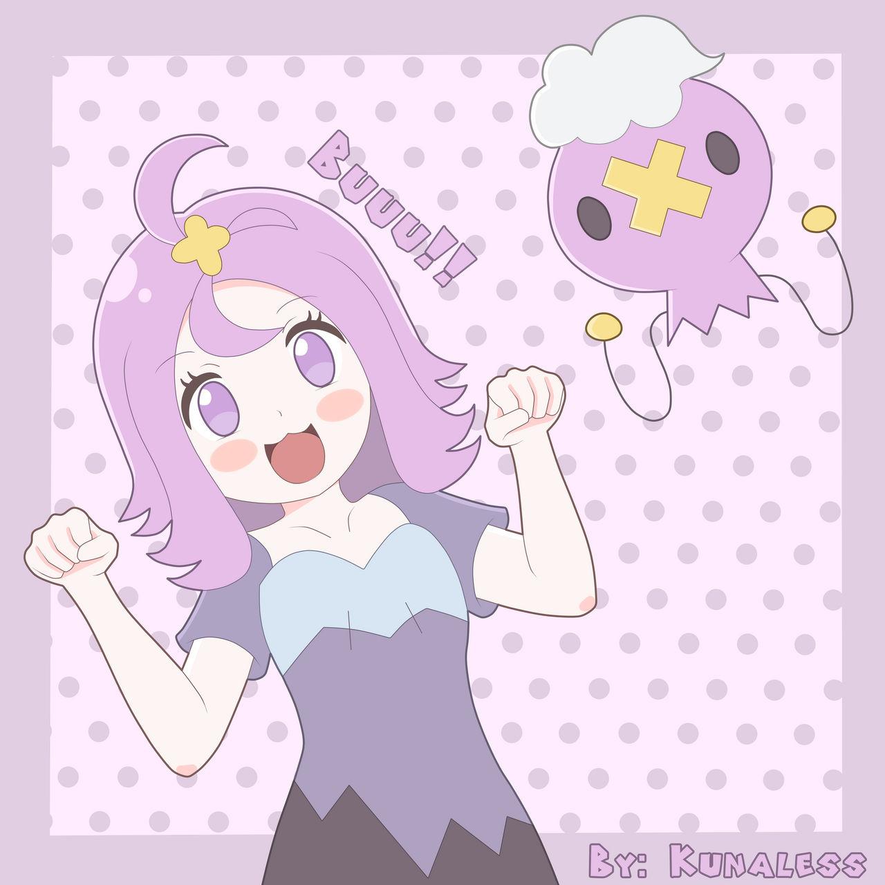 Happy Halloween! - Pokemon, Acerola and drifloon by Kunaless