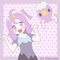 Happy Halloween! - Pokemon, Acerola and drifloon by Kunaless