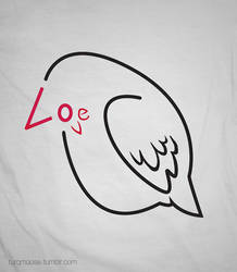 love bird typography