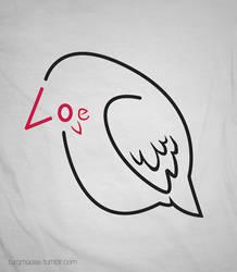 love bird typography by Turqoose