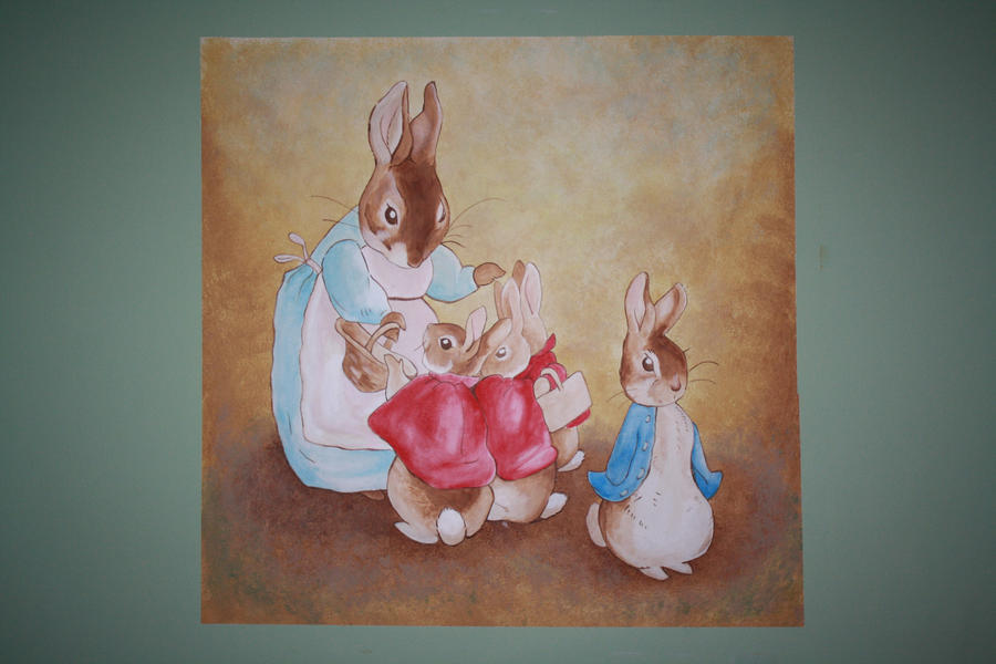 Beatrix potter wall mural 2 by anvikit on deviantart for Beatrix potter wall mural