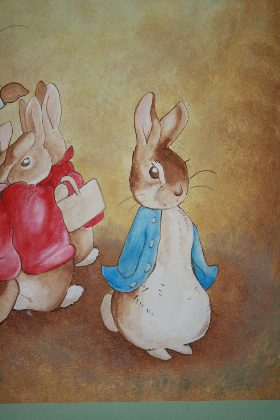 Beatrix potter mural peter by anvikit on deviantart for Beatrix potter mural wallpaper